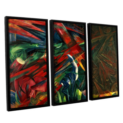 Brushstone Fate of The Animals 3-pc. Floater Framed Canvas Wall Art