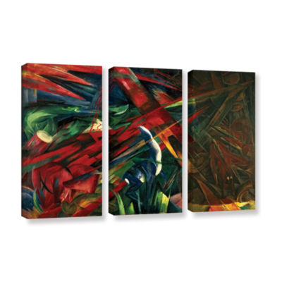 Brushstone Fate of The Animals 3-pc. Gallery Wrapped Canvas Wall Art