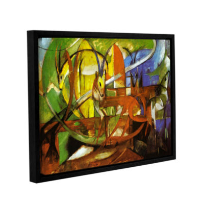 Brushstone Gazelles Gallery Wrapped Floater-FramedCanvas Wall Art