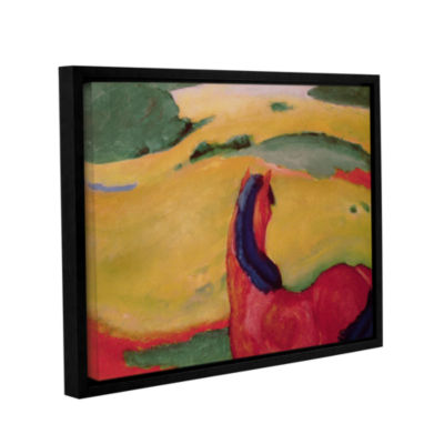 Brushstone Horse in a Landscape Gallery Wrapped Floater-Framed Canvas Wall Art