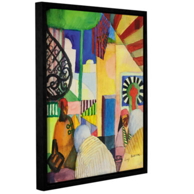 Brushstone In The Bazaar Gallery Wrapped Floater-Framed Canvas Wall Art