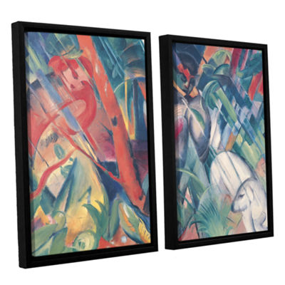 Brushstone In The Rain 2-pc. Floater Framed CanvasWall Art