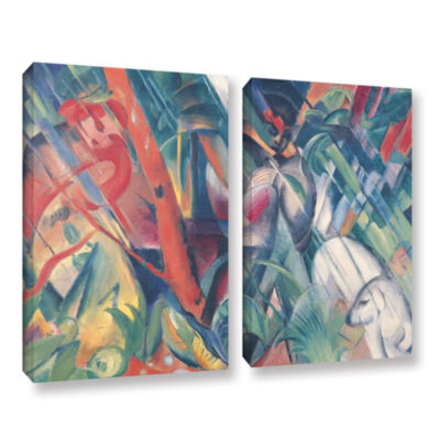 Brushstone In The Rain 2-pc. Gallery Wrapped Canvas Wall Art