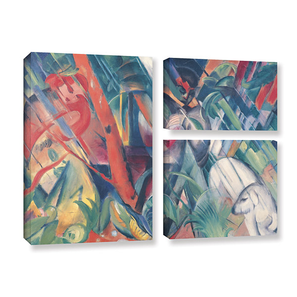 Brushstone In The Rain 3-pc. Flag Gallery Wrapped Canvas Wall Art