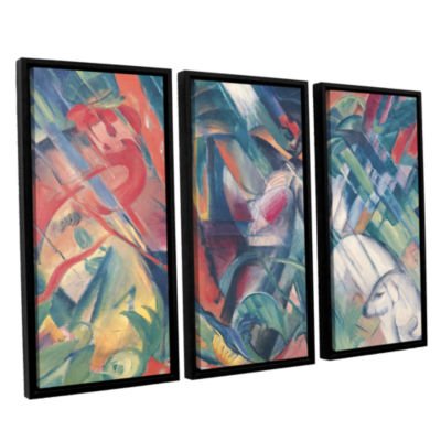 Brushstone In The Rain 3-pc. Floater Framed CanvasWall Art