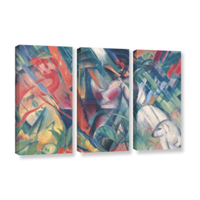 Brushstone In The Rain 3-pc. Gallery Wrapped Canvas Wall Art