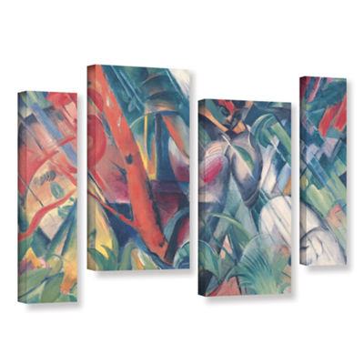 Brushstone In The Rain 4-pc. Gallery Wrapped Staggered Canvas Wall Art