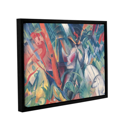 Brushstone In The Rain Gallery Wrapped Floater-Framed Canvas Wall Art