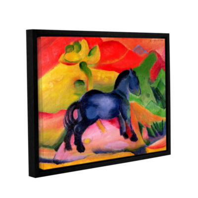 Brushstone Little Blue Horse Gallery Wrapped Floater-Framed Canvas Wall Art