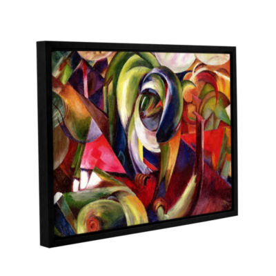 Brushstone Mandrill Gallery Wrapped Floater-FramedCanvas Wall Art