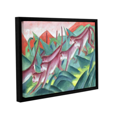 Brushstone Monkey Frieze Gallery Wrapped Floater-Framed Canvas Wall Art