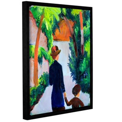 Brushstone MoTher and Child in The Park Gallery Wrapped Floater-Framed Canvas Wall Art