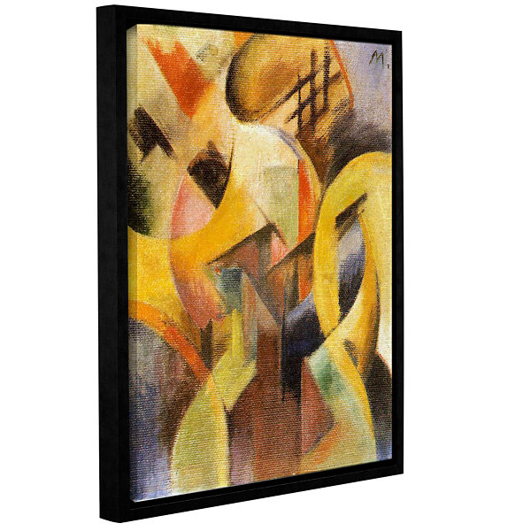 Brushstone Small Composition Gallery Wrapped Floater-Framed Canvas ...