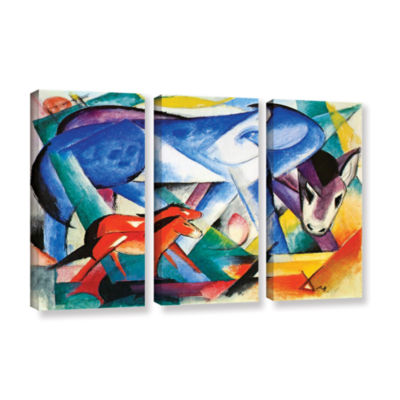 Brushstone The First Animals 3-pc. Gallery Wrapped Canvas Wall Art