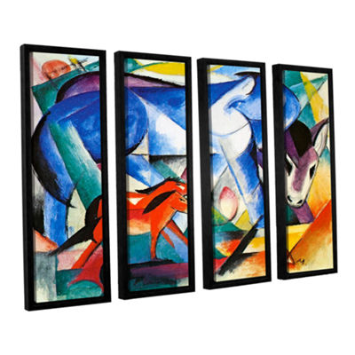 Brushstone The First Animals 4-pc. Floater FramedCanvas Wall Art