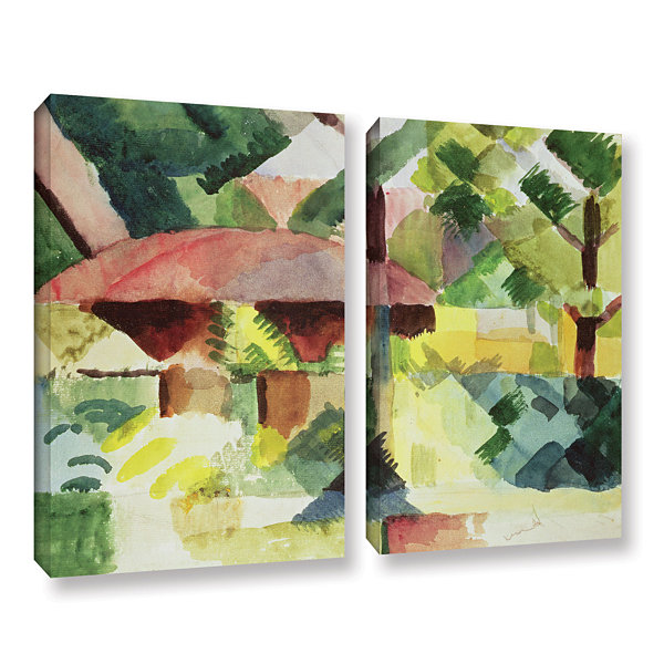 Brushstone The Garden 2-pc. Gallery Wrapped CanvasWall Art