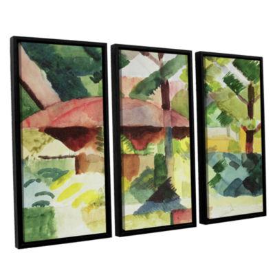 Brushstone The Garden 3-pc. Floater Framed CanvasWall Art