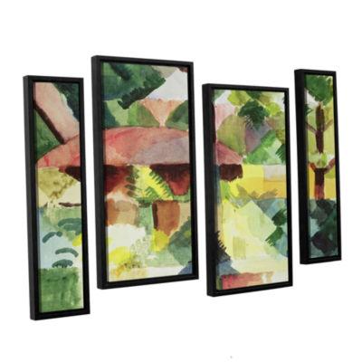 Brushstone The Garden 4-pc. Floater Framed Staggered Canvas Wall Art