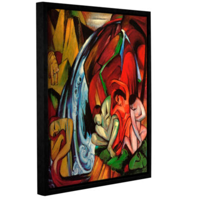 Brushstone The Waterfall Gallery Wrapped Floater-Framed Canvas Wall Art