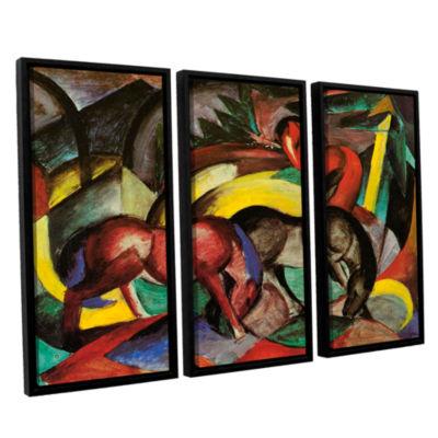 Brushstone Three Horses 3-pc. Floater Framed Canvas Wall Art