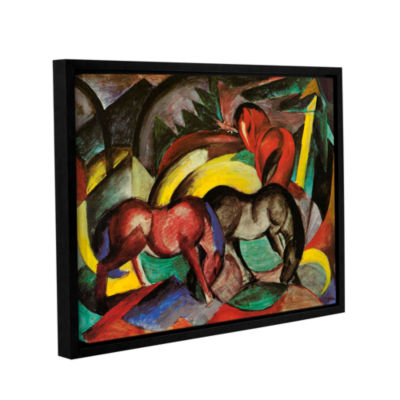 Brushstone Three Horses Gallery Wrapped Floater-Framed Canvas Wall Art