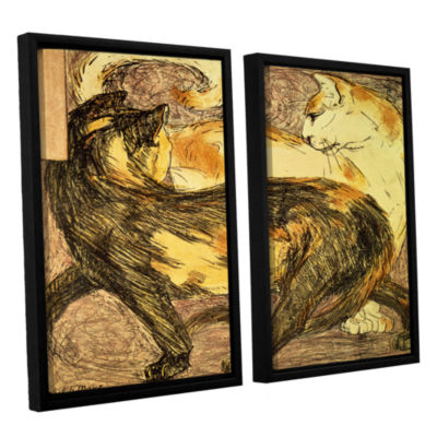 Brushstone Two Cats 2-pc. Floater Framed Canvas Wall Art