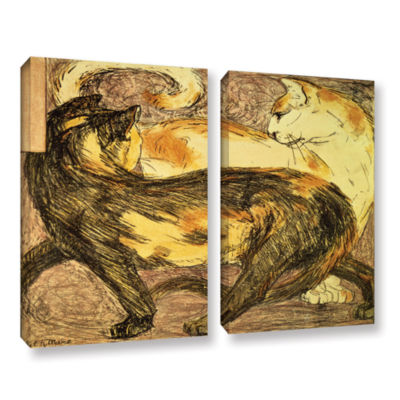 Brushstone Two Cats 2-pc. Gallery Wrapped Canvas Wall Art