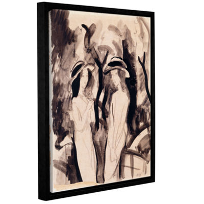 Brushstone Two Girls Gallery Wrapped Floater-Framed Canvas Wall Art