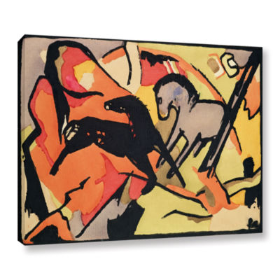 Brushstone Two Horses Gallery Wrapped Canvas WallArt