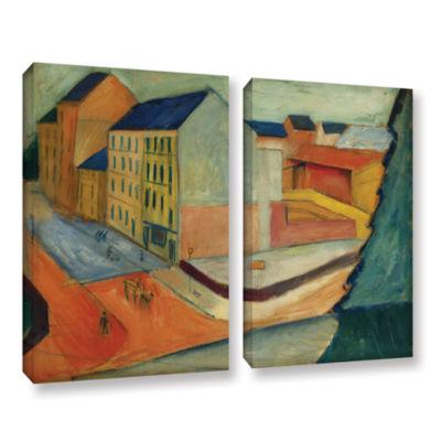 Brushstone Unsere Strasse Mit Reitbahn Bonn 2-pc.Gallery Wrapped Canvas Wall Art