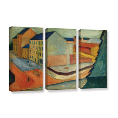 Brushstone Unsere Strasse Mit Reitbahn Bonn 3-pc. Gallery Wrapped Canvas Wall Art