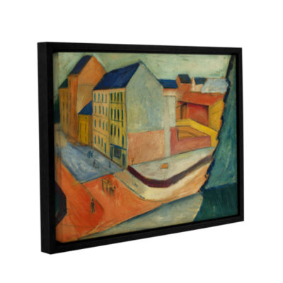 Brushstone Unsere Strasse Mit Reitbahn Bonn Gallery Wrapped Floater-Framed Canvas Wall Art