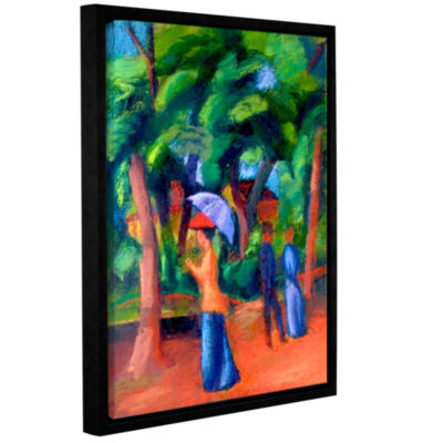 Brushstone Walking in The Park Gallery Wrapped Floater-Framed Canvas Wall Art