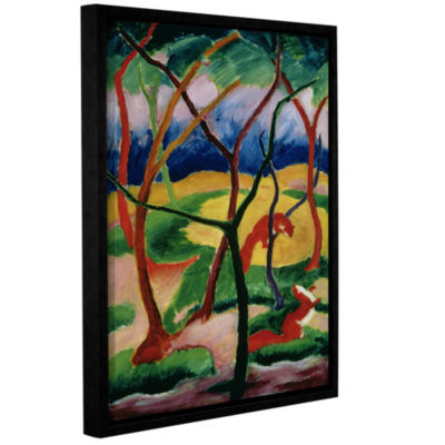 Brushstone Weasels Playing Gallery Wrapped Floater-Framed Canvas Wall Art