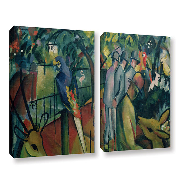 Brushstone Zoological Garden I (same as 023) 2-pc.Gallery Wrapped Canvas Wall Art