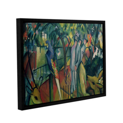 Brushstone Zoological Garden I (same as 023) Gallery Wrapped Floater-Framed Canvas Wall Art