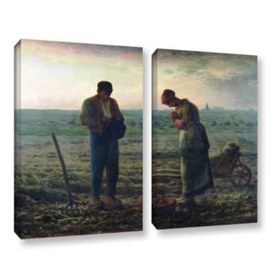 Brushstone The Angelus 2-pc. Gallery Wrapped Canvas Wall Art