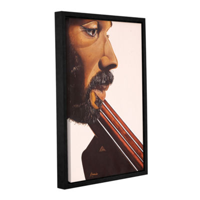 Brushstone Bass Player IV Gallery Wrapped Floater-Framed Canvas Wall Art