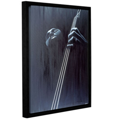 Brushstone In a Groove Gallery Wrapped Floater-Framed Canvas Wall Art