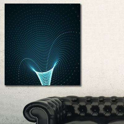 Designart Cyberspace Vector Illustration AbstractCanvas Art Print - 3 Panels
