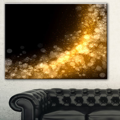 Designart Dark Gold Texture Pattern Abstract Canvas Art Print