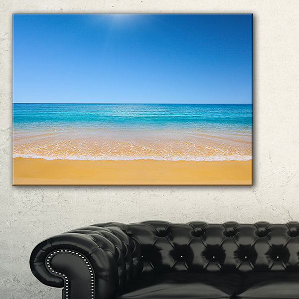 Designart Dark View Of Tropical Beach Seashore Photo Canvas Print