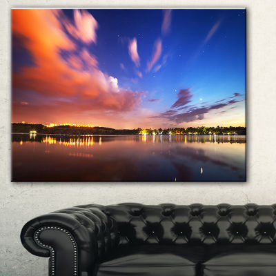 Design Art Delighted Reflection In River LandscapePhotography Canvas Print - 3 Panels