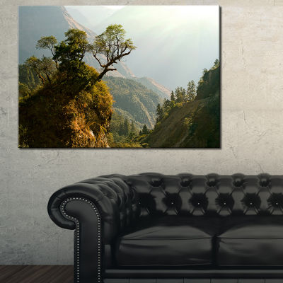 Designart Enchanted Nepal Mountains Landscape Photography Canvas Art Print