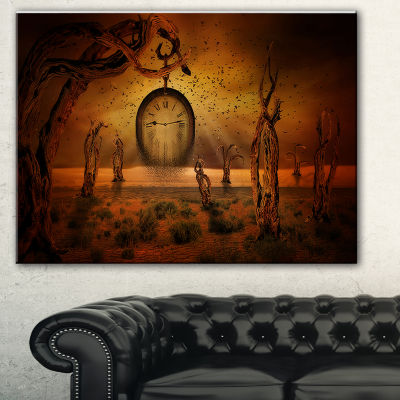 Designart End Of Time Abstract Canvas Art Print