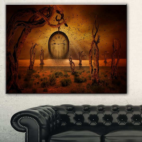 Designart End Of Time Abstract Canvas Art Print -3Panels
