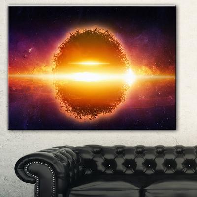 Designart Exploding Planet In Space Spacescape Canvas Art Print