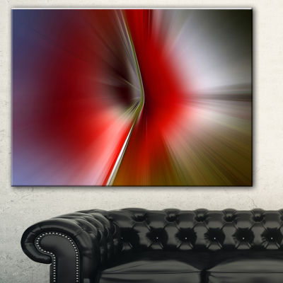 Designart Explosion Of Red On Purple Abstract Canvas Art Print - 3 Panels