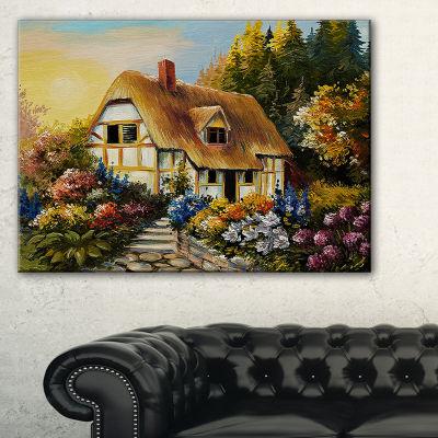 Designart Fairy House Oil Painting Landscape Painting Canvas Print