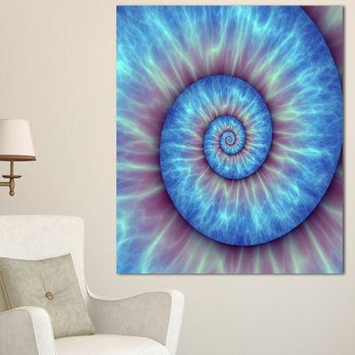 Designart Fibonacci Pattern Blue Abstract CanvasArt Print